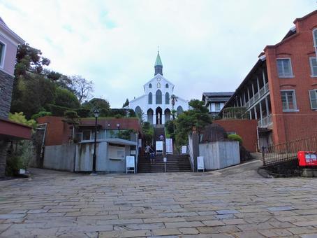 Oura Catholic Church in the morning Nagasaki