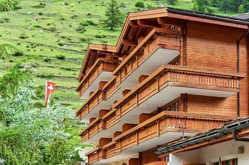 스위스 산장 풍의 호텔 이미지