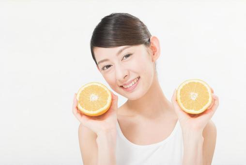 Female with oranges 7