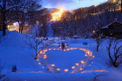 The 20th Otaru snow light path (Asuri River venue) 7