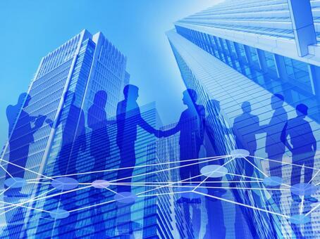 Business Network-Multiple Businessmen
