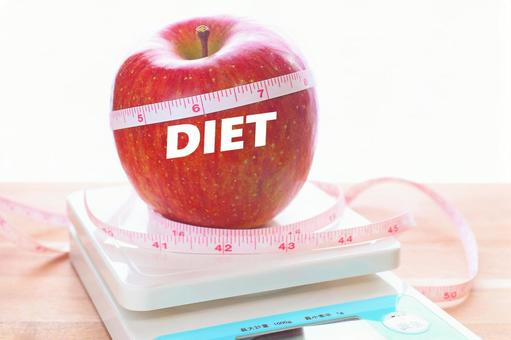 Apple and DIET apple health diet image material
