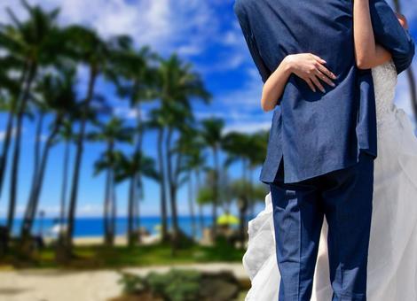 하와이에서 결혼식