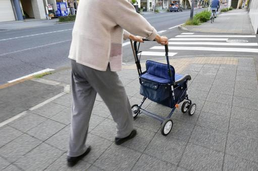 Elderly people and roads