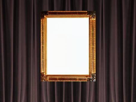 背景和帧照片(窗帘14)