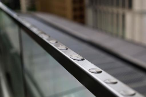 Water drops on the balcony sash 4