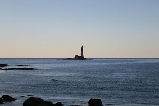 촛대 바위 풍경