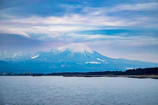 Scenery of Tottori Daisen in the early morning