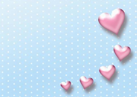 Heart light blue dot background