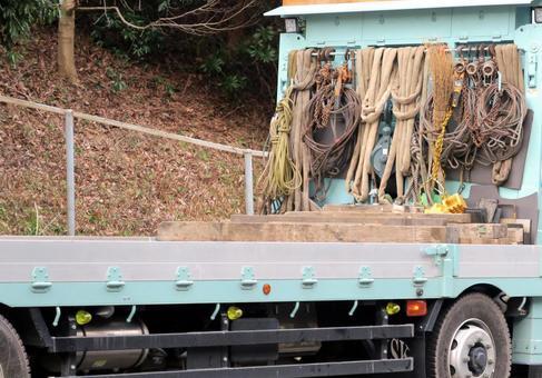 Heavy goods transportation truck