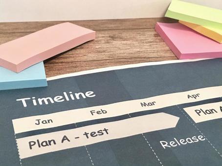 Timeline / progress management / schedule management