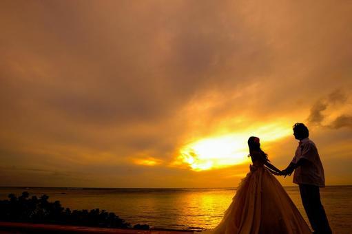 Resort wedding evening waikiki beach
