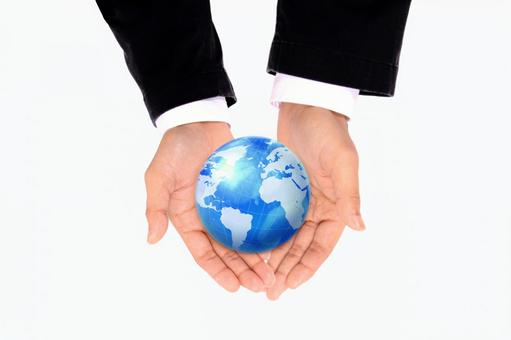 Hands holding the earth 9