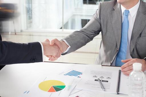 Businessman to shake hands 4