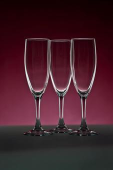 香槟玻璃的玻璃照片红紫色背景2