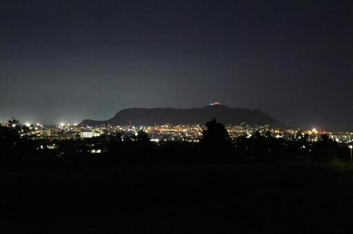 Hakodate back night view