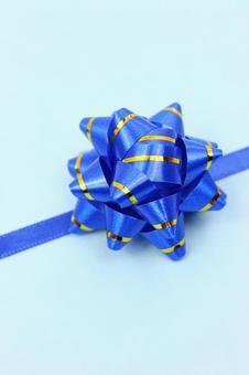 Ribbon texture tape ribbon light blue background