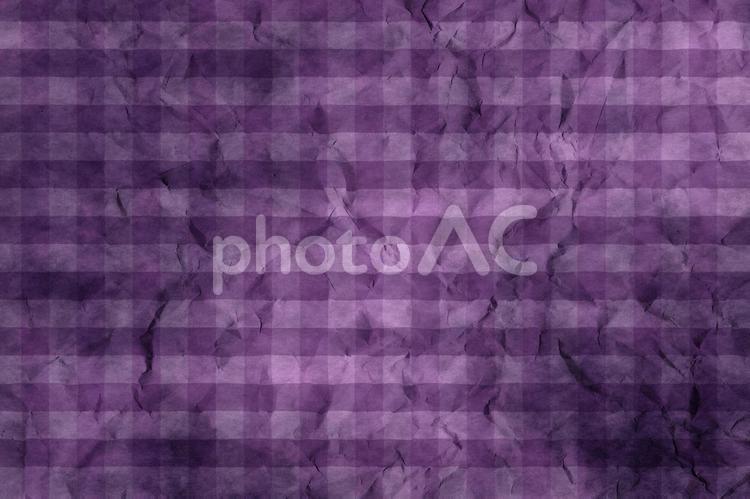 しわのある和紙 彩雲 ギンガムチェック柄 ちぢれ 凸凹 テクスチャ 45の写真