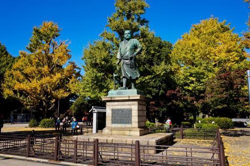 November Ueno Saigo Takamori statue
