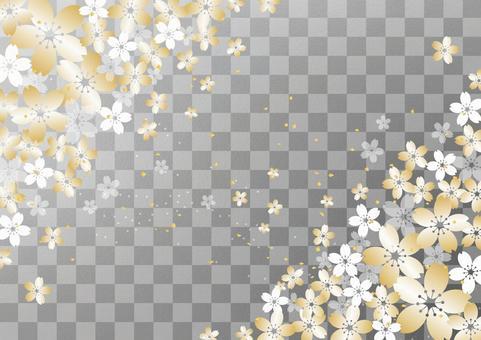 桜 _ silver foil _ lattice
