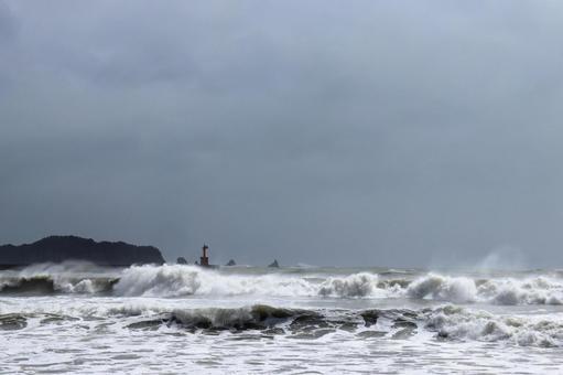 태풍의 풍경 니치 난 해안 2