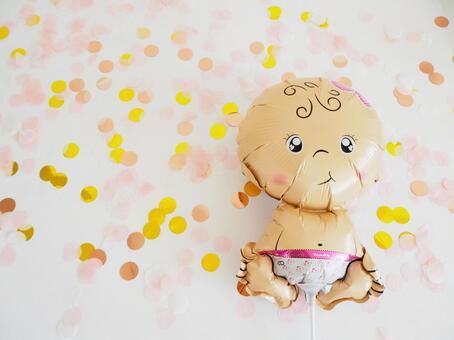 Balloon Art Baby Shower Balloons Prenatal Baby Confetti Confetti