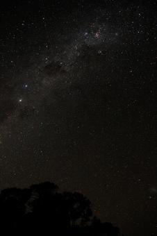 Perfect starry sky