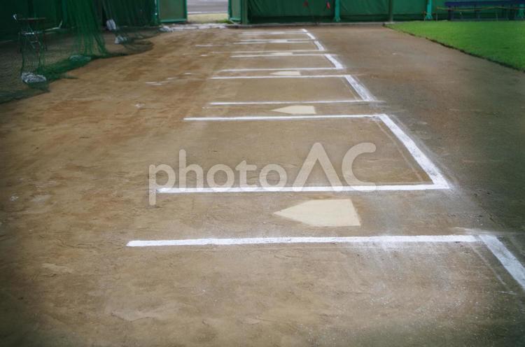 野球のブルペンの写真