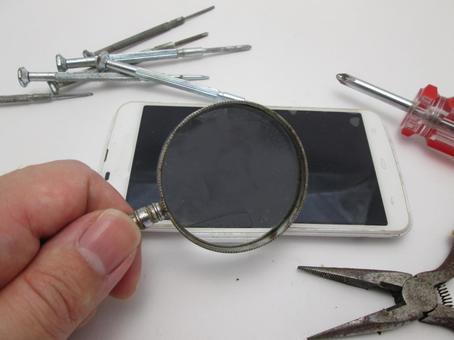 Repair of the smartphone