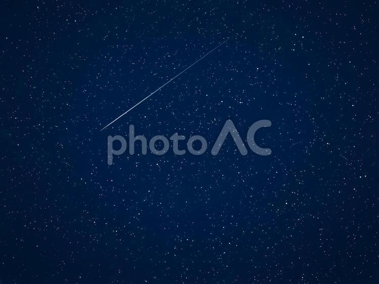 流れ星 夜空の写真