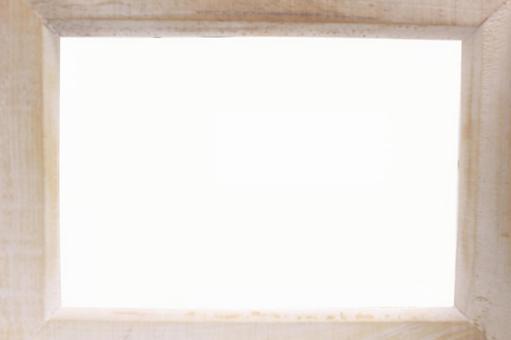 White antique style wooden frame frame