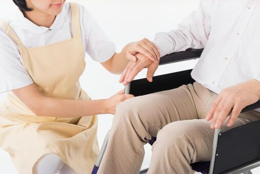 Person caregiver for wheelchair 1