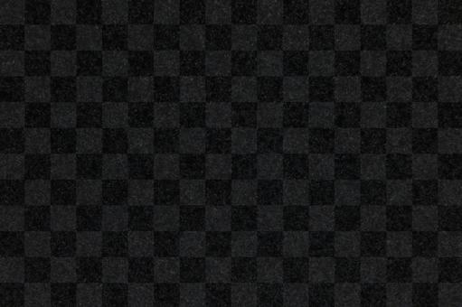 Japanese paper background material - checkered pattern black