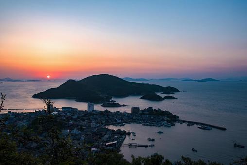 Hiroshima Prefecture Tomonoura Cityscape