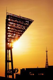 Yokohama stadium's lights