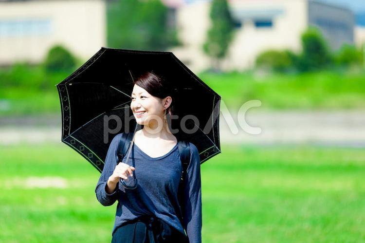 日傘を差している女性の写真