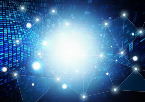 기술 네트워크 데이터 파랑