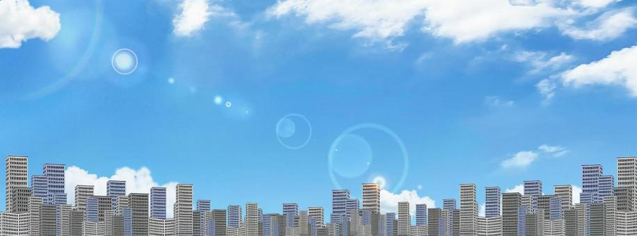 Panorama of sky and skyscrapers