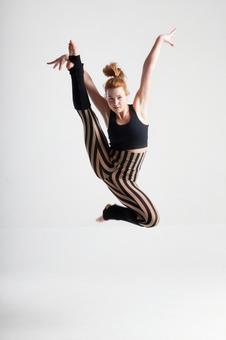 Flying dancing female dancer 1