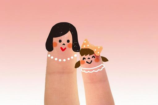 Cute finger parent and child 3