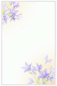Postcard design with Japanese bellflower pattern 01