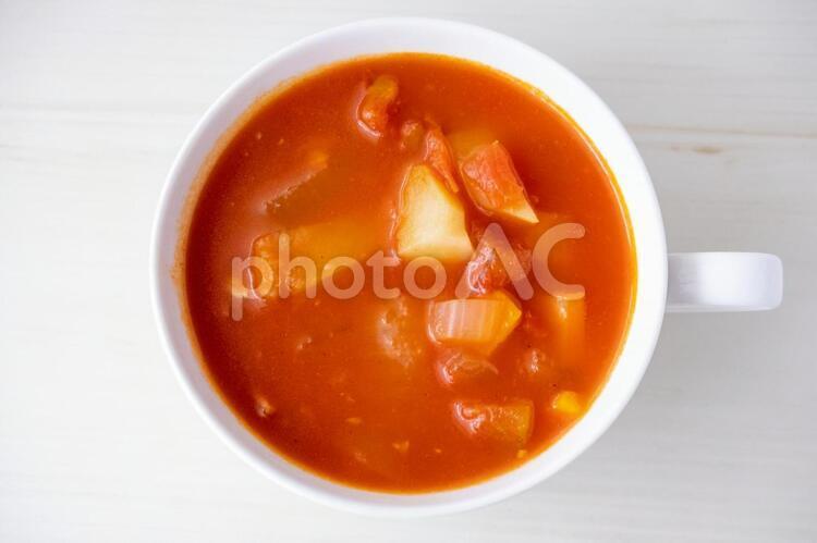 野菜たっぷりのトマトスープ2の写真