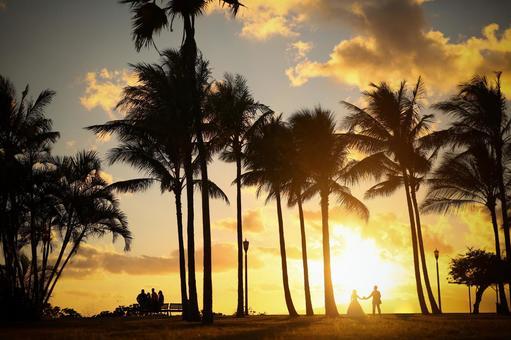 Sunset glow in Hawaii