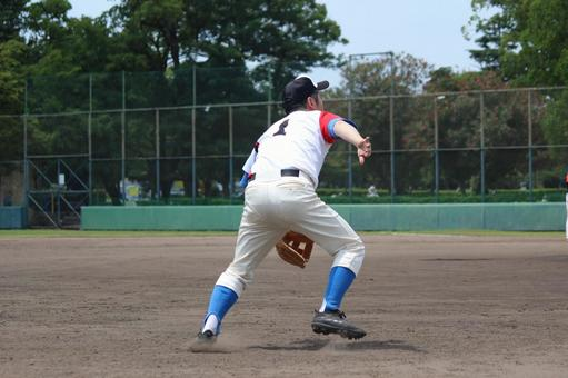 Men baseball sports defense