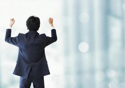 Guts pose male businessman building image background
