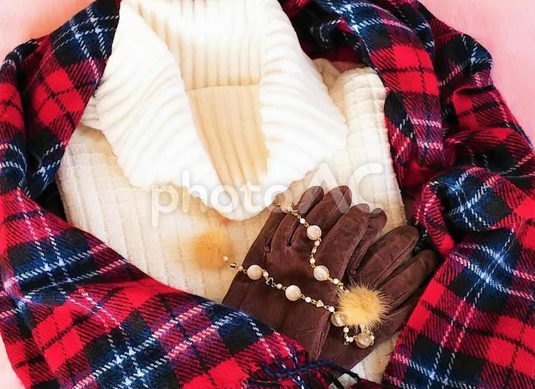 冬のおでかけイメージの写真