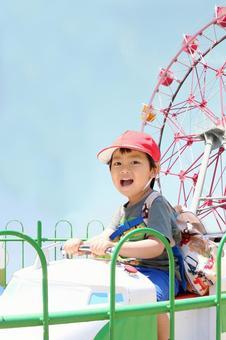 Amusement park and children