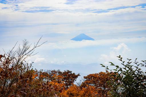 茅ヶ岳에서 본 후지산 2