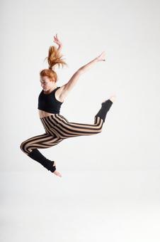 Jumping female dancer 3