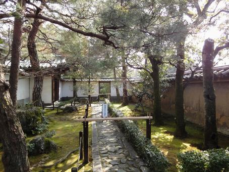 보도가있는 일본 정원
